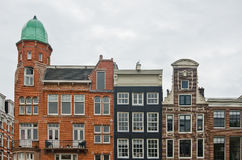 Typical Dutch Houses in Amsterdam Stock Photos