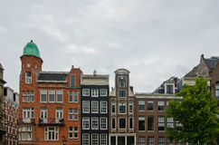 Typical Dutch Houses in Amsterdam Stock Photography