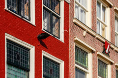 Typical Dutch houses detail Stock Image