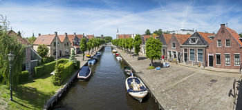 Typical Dutch houses in the historic center of Sloten Stock Photography