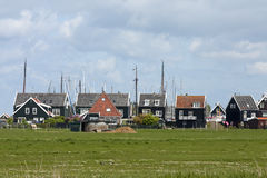 Typical Dutch houses in Marken Stock Photo