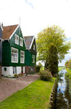 Typical Dutch houses in Marken Stock Images