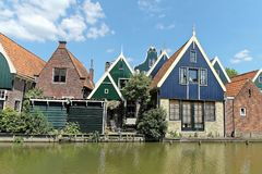 Typical dutch houses village Royalty Free Stock Image