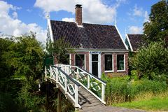 Typical Dutch houses. Zaandam, Holland Royalty Free Stock Photo