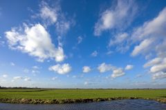 Typical dutch landscape Royalty Free Stock Photo