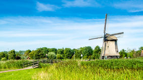 Typical Dutch landscape. In Alkmaar, the Netherlands stock image