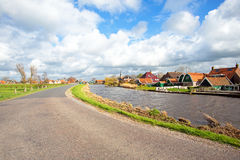 Typical dutch landscape in the countryside from Netherlands Stock Photography