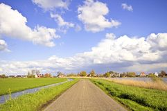 Typical dutch landscape in springtime Royalty Free Stock Photography