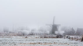 Typical Dutch Landscape Royalty Free Stock Photos