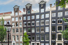 Typical dutch mansion houses in Amsterdam Stock Photography