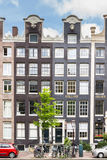 Typical dutch mansion houses in Amsterdam Stock Photo