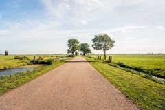 Typical Dutch polder landscape in the Dutch region Alblasserwaar. D, located in the National Landscape called The Green Heart in the province of South Holland royalty free stock images