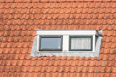 Typical Dutch roof with dormer and windows Stock Photography
