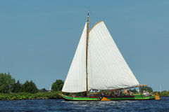 Typical dutch sailing boat Royalty Free Stock Images