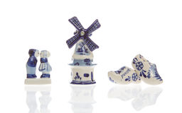 Typical dutch souvenirs on a row Stock Images