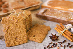 Typical Dutch speculaas cookies Royalty Free Stock Image