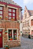 A typical Dutch street in the Delph. Netherlands Royalty Free Stock Photo