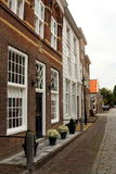 A typical Dutch street in Heusden, The Netherlands Royalty Free Stock Images