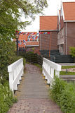 Typical Dutch street in village Marken Royalty Free Stock Image