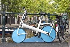 Typical dutch streetscene in Amsterdam Netherlands Stock Photos