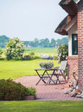 Typical dutch summer terrace Royalty Free Stock Photo