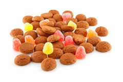 Typical dutch sweets: pepernoten Royalty Free Stock Photos