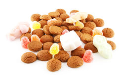 Typical dutch sweets: pepernoten (ginger nuts) Royalty Free Stock Photos