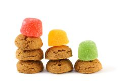 Typical dutch sweets for Sinterklaas - pepernoten (ginger nuts) Stock Photo