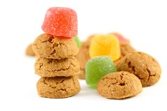 Typical dutch sweets for Sinterklaas - pepernoten (ginger nuts) Stock Photos