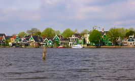 Typical dutch village. Picture of a old dutch village of Zaanse Scans royalty free stock image