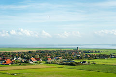 Typical Dutch village Hollum. At the wadden island in Holland royalty free stock photos