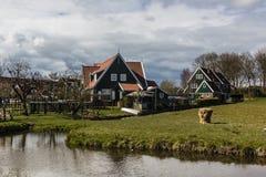 Typical Dutch village Marken, The Netherlands Stock Photos