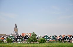 Typical Dutch village Marken with wooden houses, Netherlands Royalty Free Stock Photography