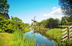 Typical Dutch Windmill Royalty Free Stock Photography