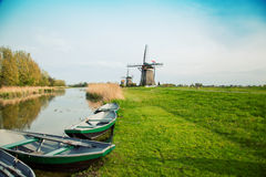 Typical Dutch Windmill Stock Photos