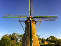 Typical dutch windmill Stock Photo