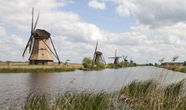 Typical Dutch windmills Royalty Free Stock Image