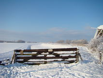 Typical Dutch Winter landscape Royalty Free Stock Image