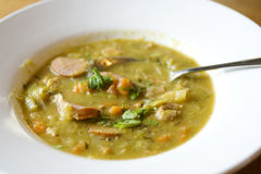 Typical Dutch winter pea soup Royalty Free Stock Photo