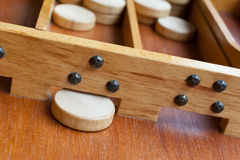 Typical dutch wooden boardgame - Sjoelen Royalty Free Stock Photo