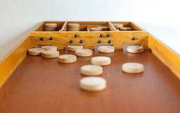 Typical dutch wooden boardgame - Sjoelen Stock Image