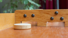 Typical dutch wooden boardgame - Sjoelen Stock Images