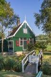 Typical dutch wooden house in Zaanse Schans Stock Photography
