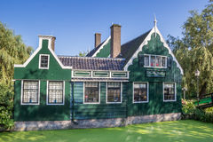 Typical dutch wooden house in Zaanse Schans Royalty Free Stock Photos