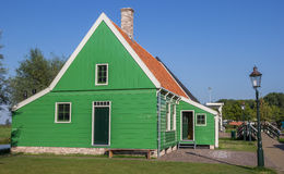Typical dutch wooden house in Zaanse Schans Stock Image