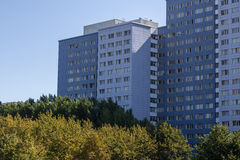 Typical east german plattenbau buildings in berlin Stock Photo
