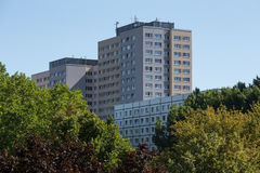 Typical east german plattenbau buildings in berlin Stock Image