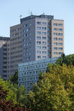 Typical east german plattenbau buildings in berlin Royalty Free Stock Images