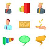 Typical employee icons set, cartoon style Stock Photo