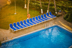 Typical Empty Pool of a All Inclusive Resort Royalty Free Stock Image